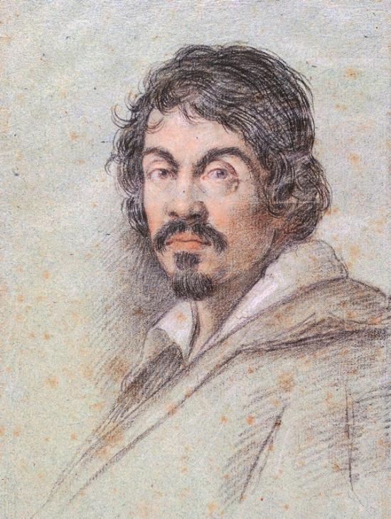 Caravaggio_600_ by Ottavio Leoni, circa 1621, wikipedia commons